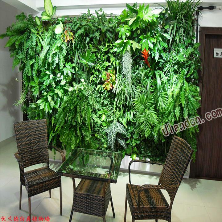 办公室仿真植物墙效果图