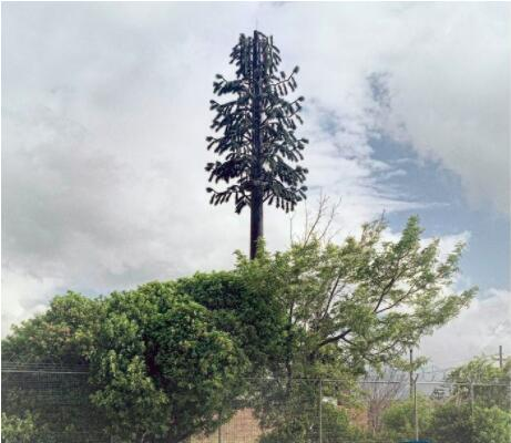 仿真植物装饰的信号塔
