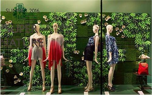 商店橱窗仿真植物墙