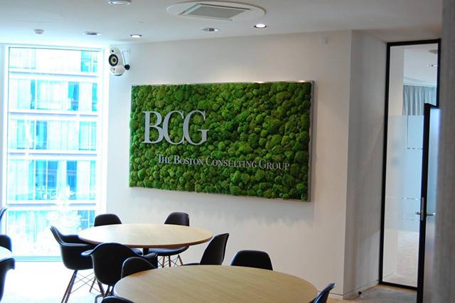 BCG公司永生苔藓logo形象墙
