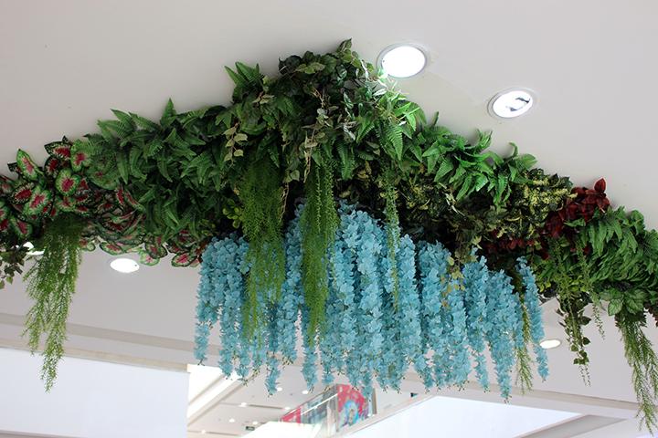 仿真植物吊顶效果图