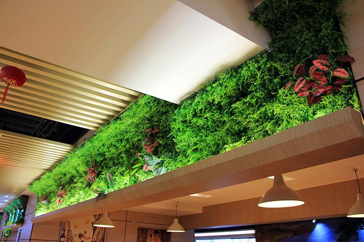 仿真绿植吊顶效果图