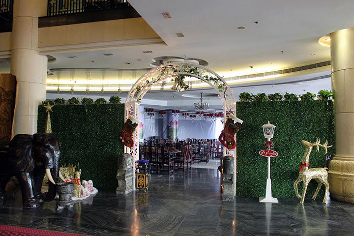餐饮店仿真植物墙