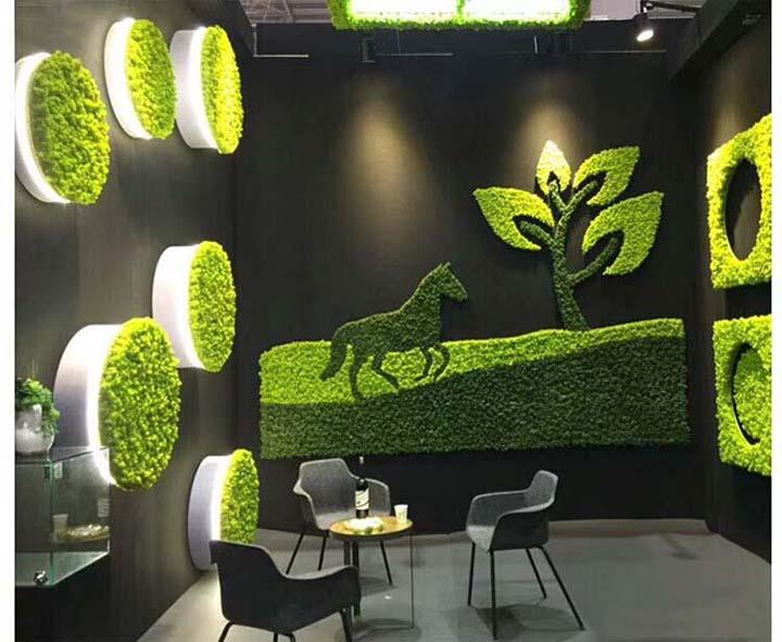 永生苔藓装饰的餐饮店