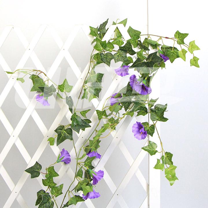 仿真藤条牵牛花紫色