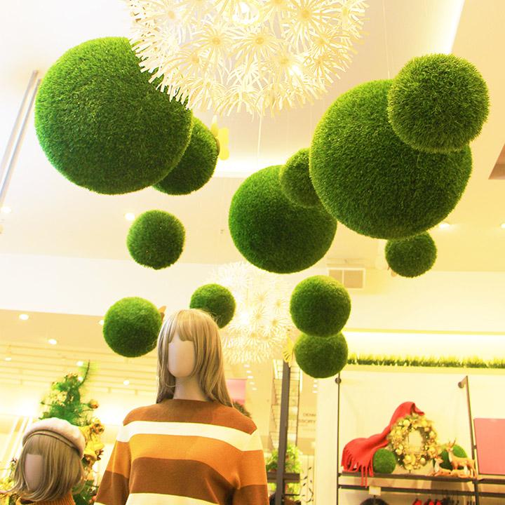 仿真植物草球吊顶