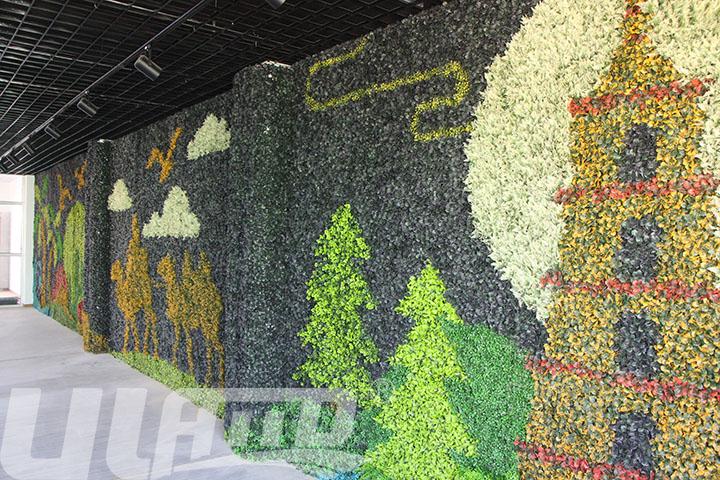 仿真植物墙设计-丝绸之路